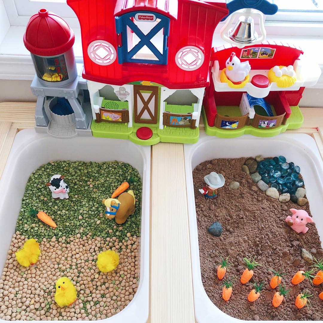 How to Create a Farm Themed Sensory Table