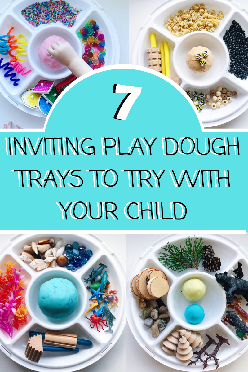 7 Inviting Play Dough Trays to Try With Your Child