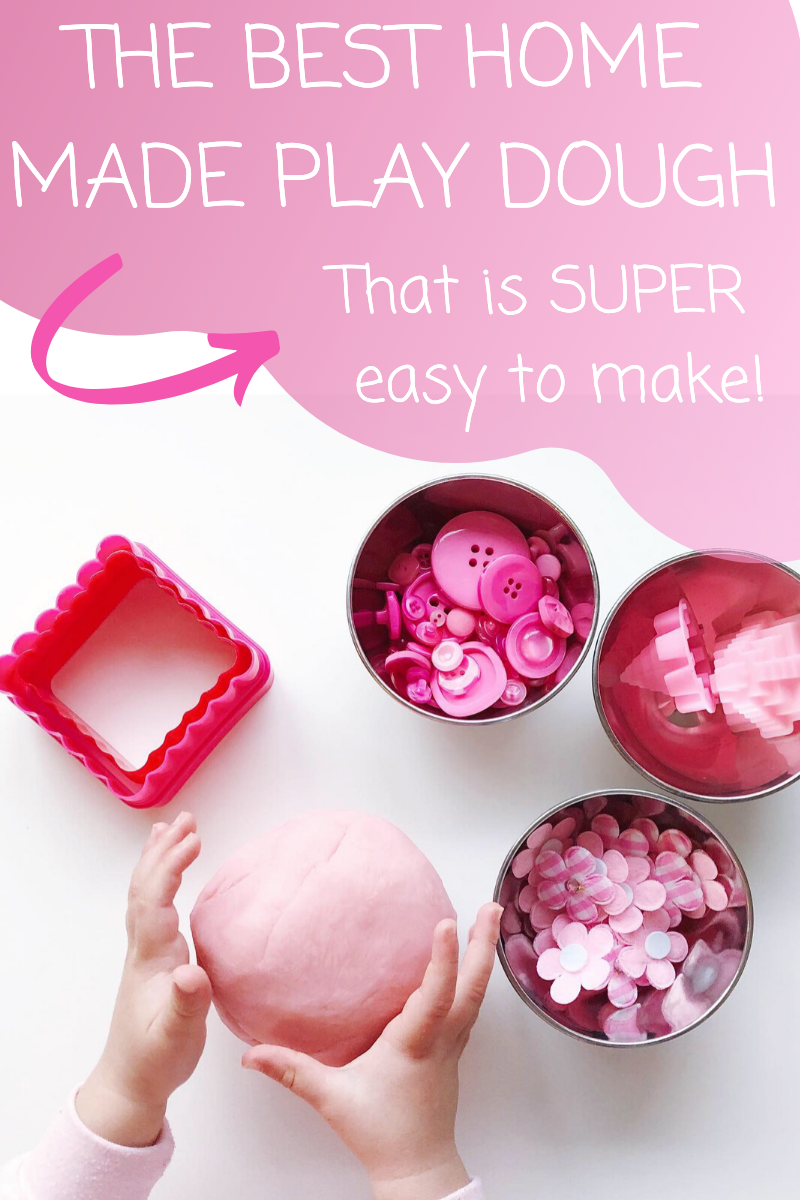 The Easiest Way to Make Home Made Play Dough