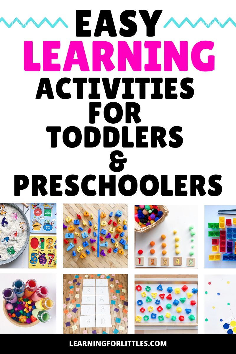 Easy Learning Activities for Toddlers and Preschoolers
