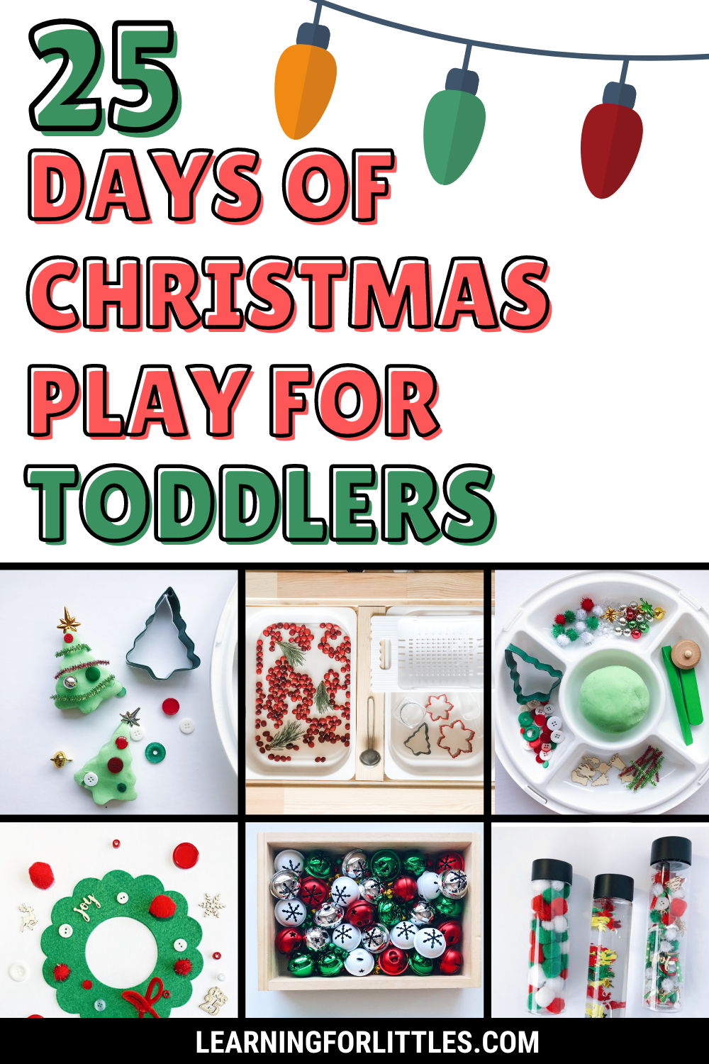 25 Days of Christmas Play Ideas for Toddlers