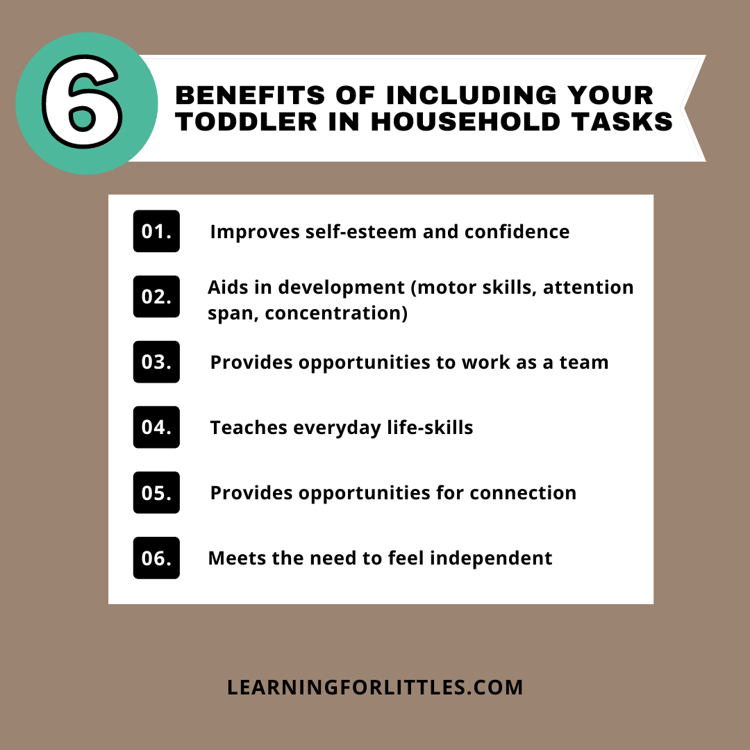 6 Benefits of Including Toddlers in Household Chores